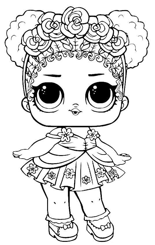 printable coloring pages lol dolls pusat hobi