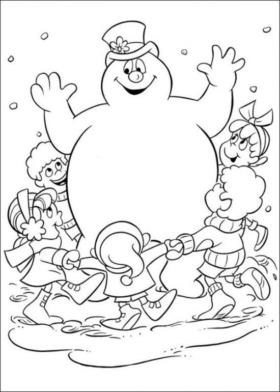 printable coloring pages of frosty the snowman picture 7