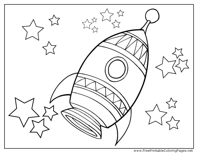 printable coloring pages rocket ship pusat hobi