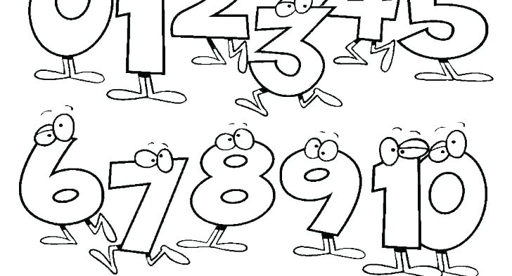 printable colour number pages numbers coloring the 1 page