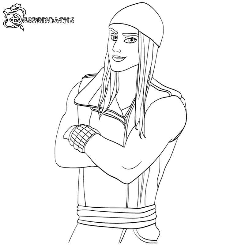printable descendants 2 coloring pages jay free coloring for