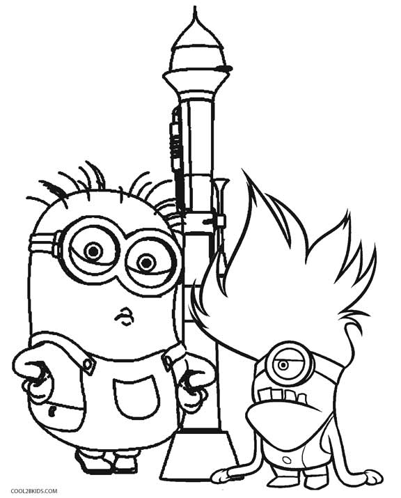 printable despicable me coloring pages for kids cool2bkids