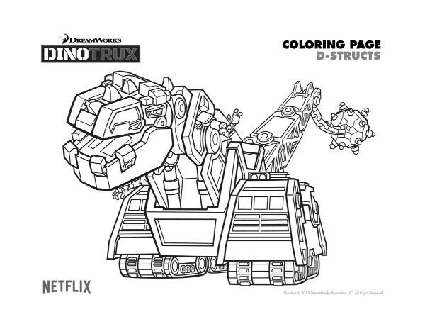 printable dinotrux coloring pages kids printable coloring