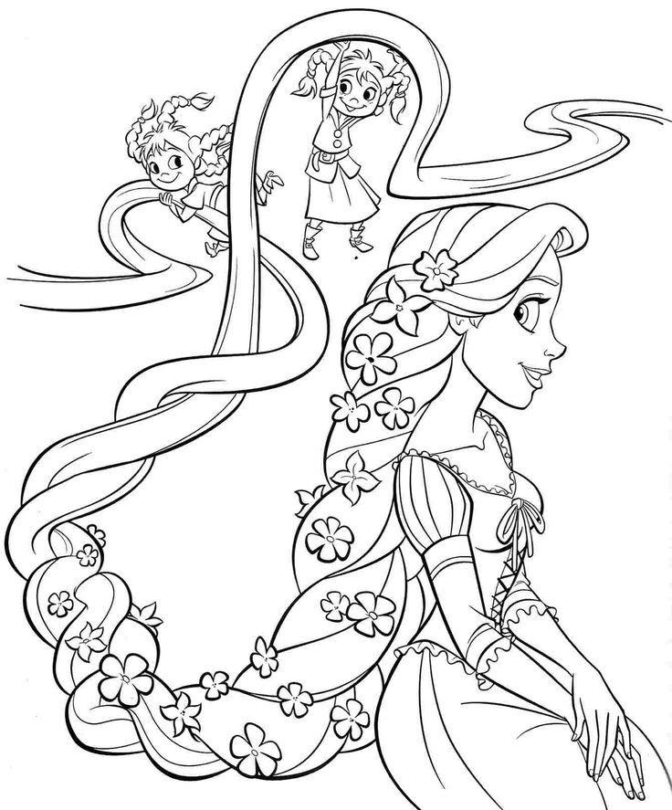 printable free disney princess rapunzel coloring sheets for
