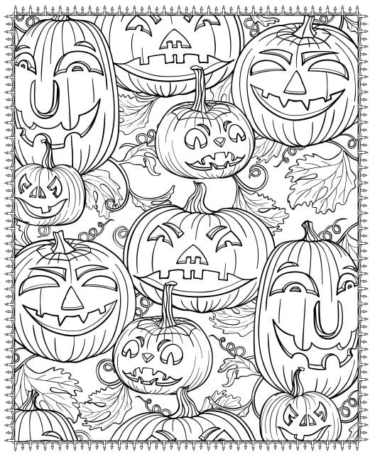 printable halloween coloring pages for adults popsugar