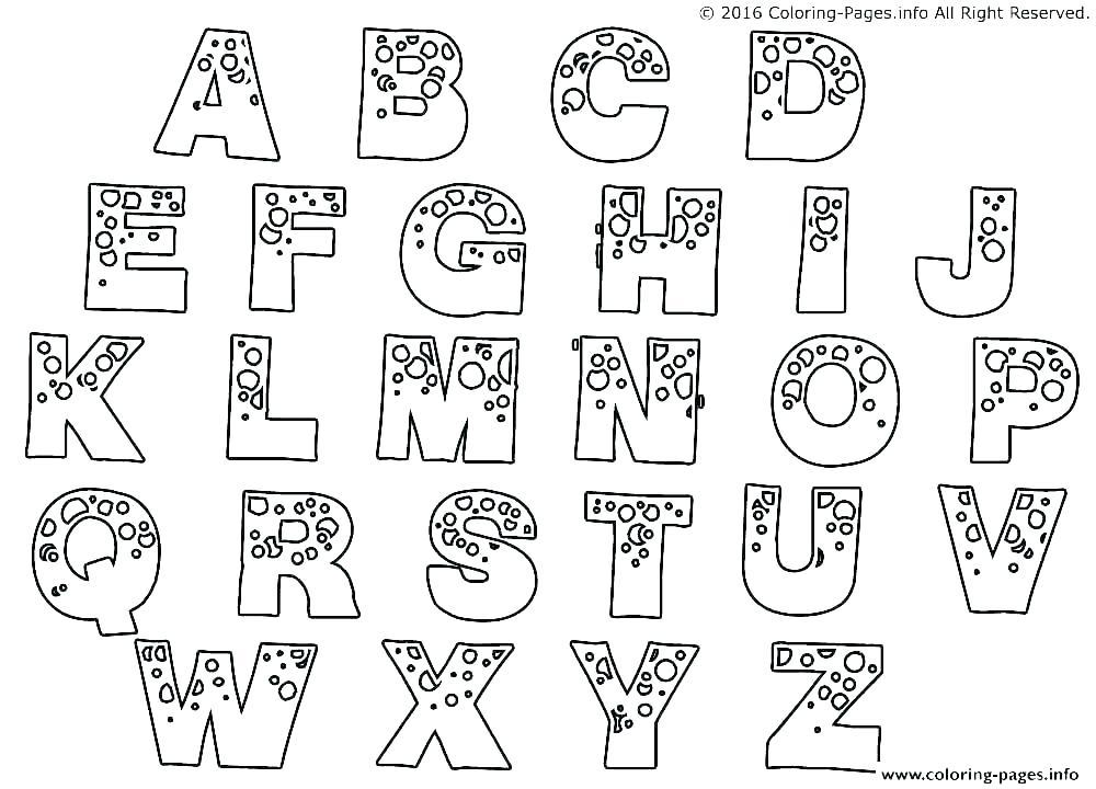 Letter Coloring Pages Idea - Whitesbelfast.com