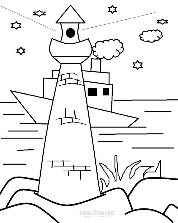 printable lighthouse coloring pages gallery fun for kids