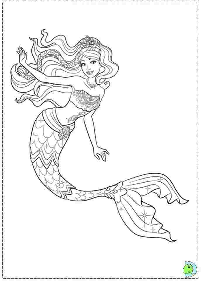 printable mermaid coloring pages mermaid barbie colouring