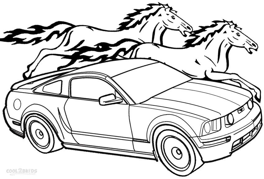 printable mustang coloring pages for kids cool2bkids cars