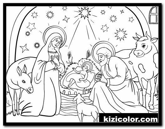 printable nativity coloring pages 3 printable nativity