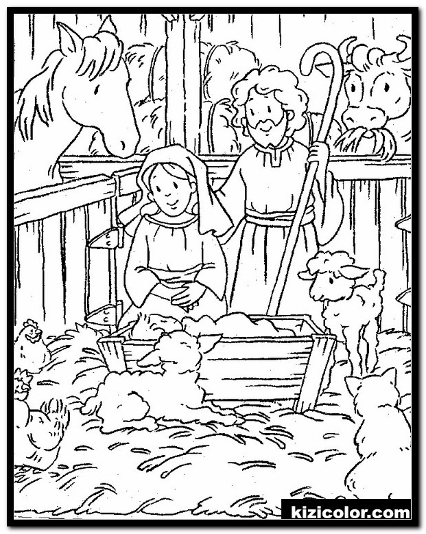printable nativity coloring pages 8 free scene kizi