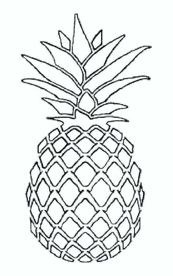 Pineapple Coloring Pages Ideas - Whitesbelfast