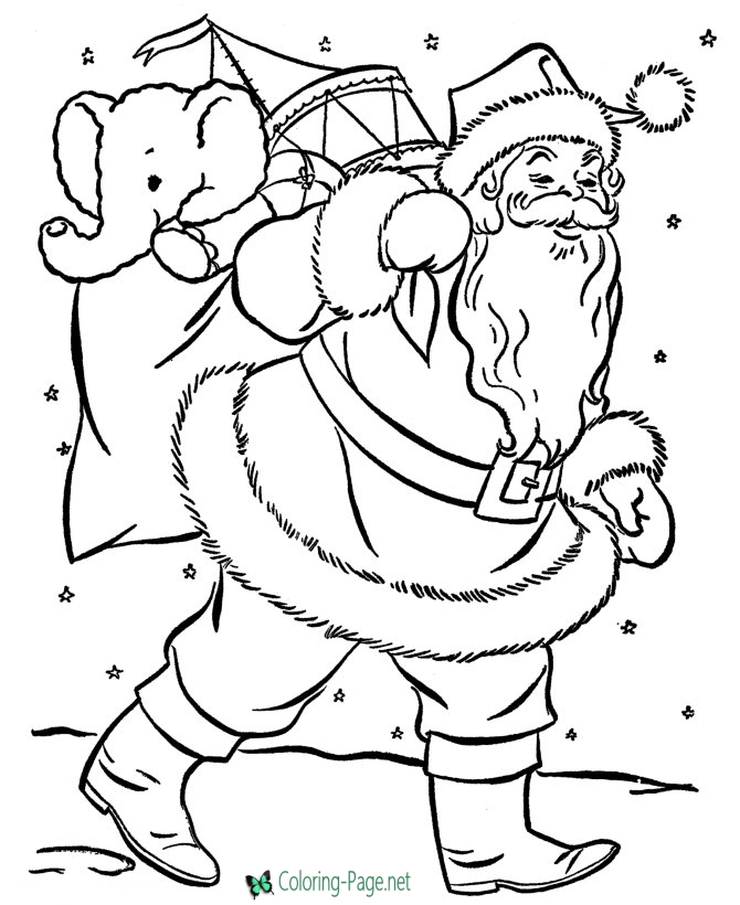 printable santa coloring pages
