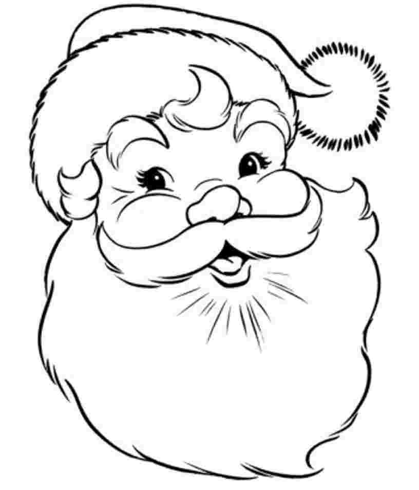 printable santa coloring sheets santa coloring pages best