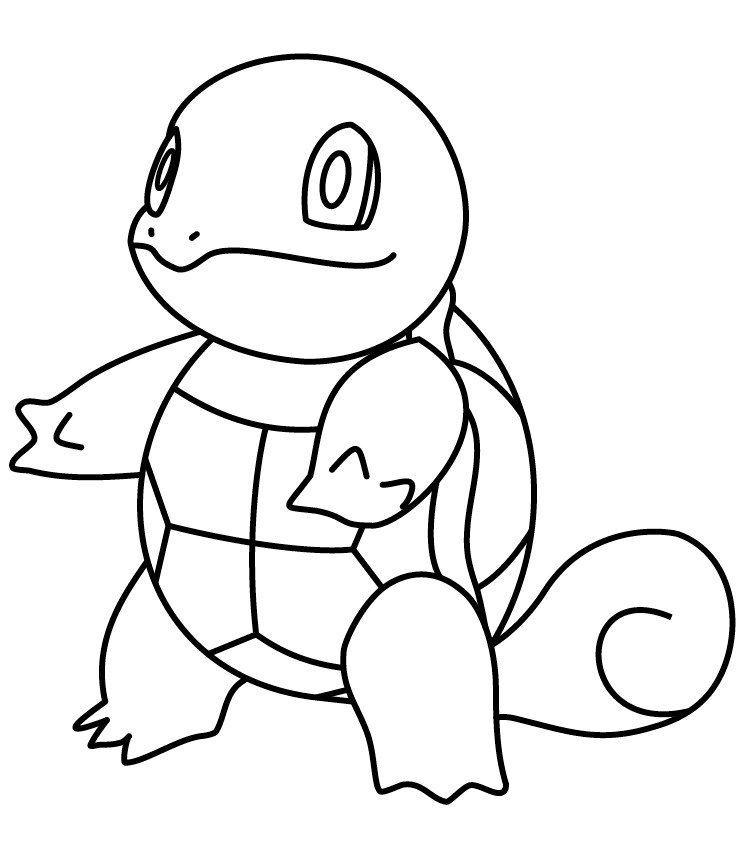 printable squirtle coloring pages squirtle drawing pages
