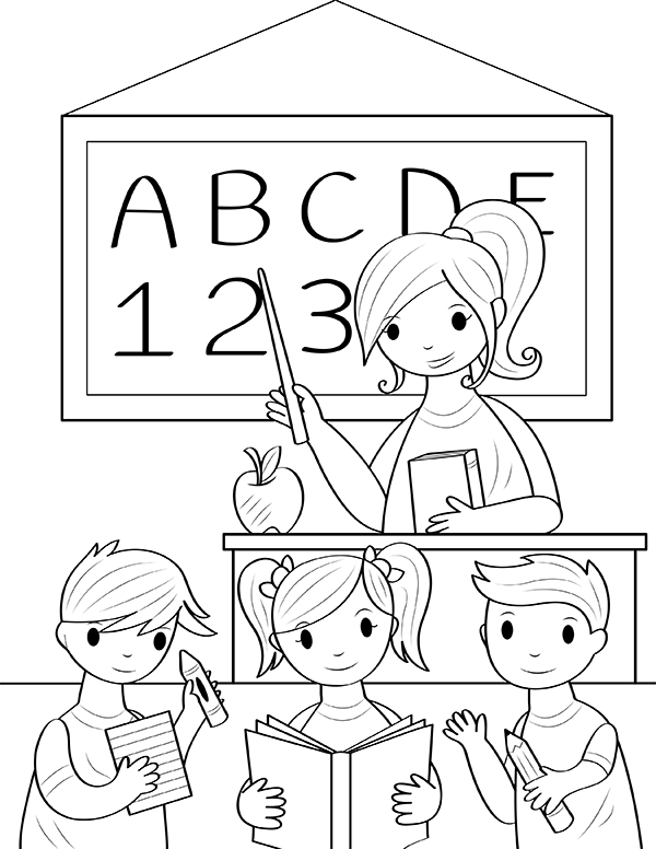 printable teacher coloring page