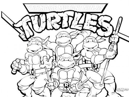 printable teenage mutant ninja turtles coloring pages