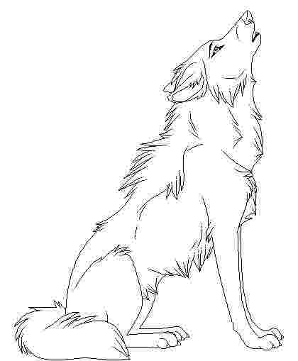 printable wolf colouring pictures stylish wolf coloring page