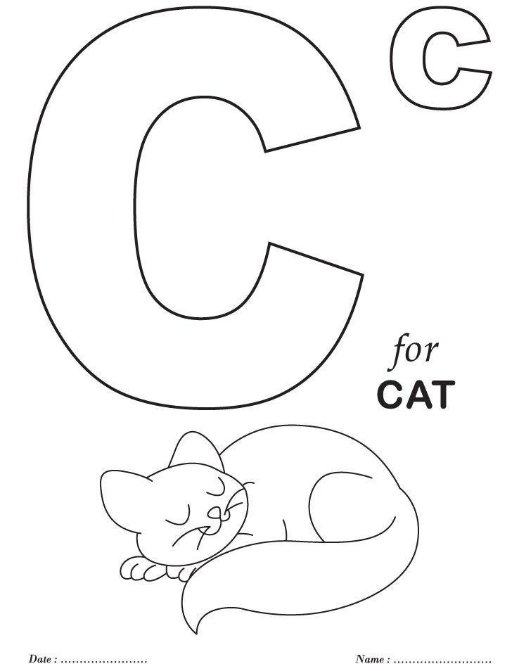 printables alphabet c coloring sheets download free
