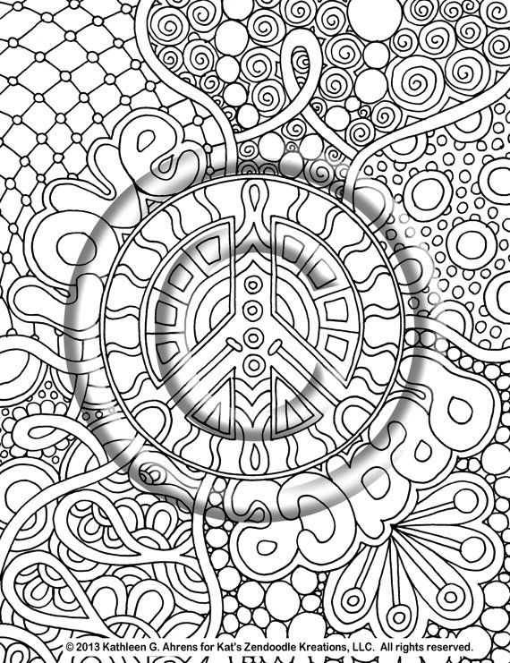 psychedelic coloring pages hippie peace colouring pages