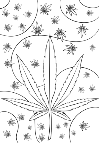 psychedelic weed omalovnka free printable coloring pages