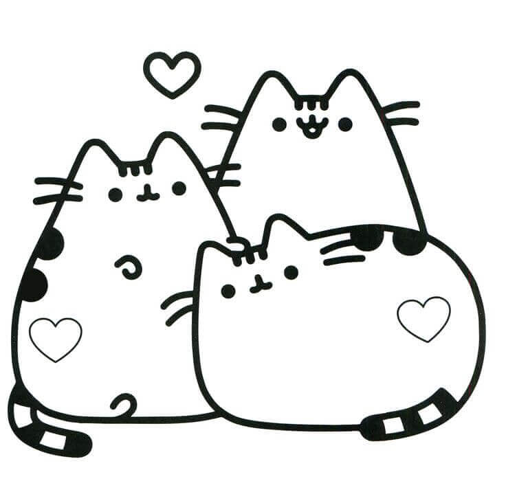 pusheen coloring pages to print at getdrawings free