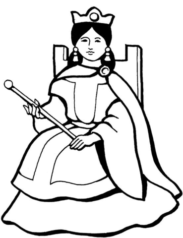 queen coloring page free printable coloring pages