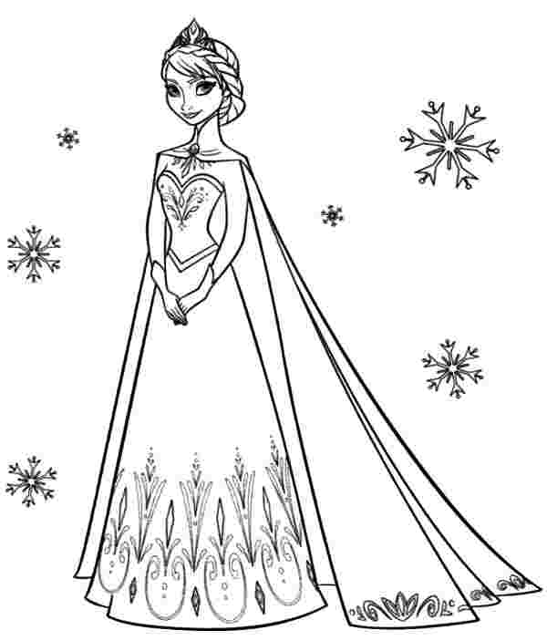 queen elsa and princess anna coloring pages princess anna