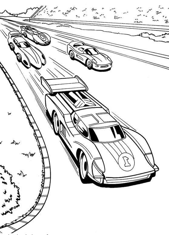 race car racing hot wheels coloring pages ausmalbilder