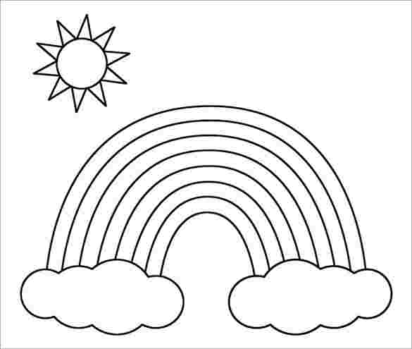 rainbow coloring pages free free printable rainbow coloring