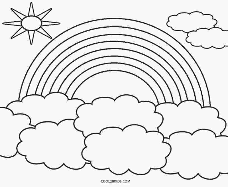 rainbow coloring pages free rainbow coloring pages