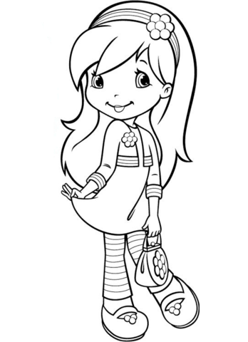 raspberry torte from strawberry shortcake coloring page