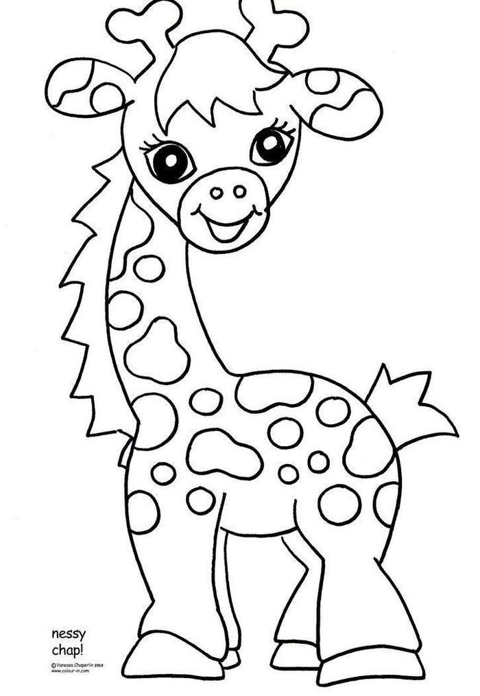 read moreba zoo animal coloring pages giraffe coloring