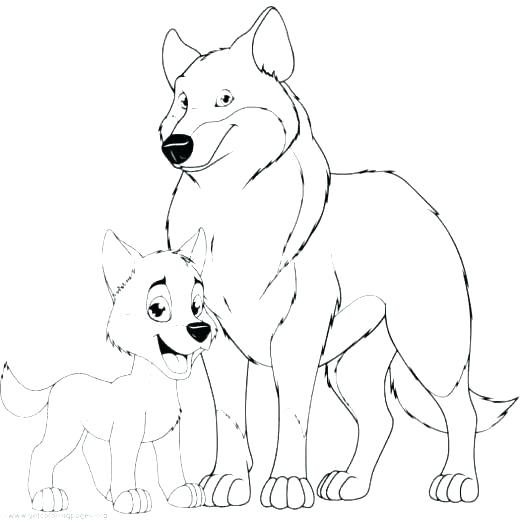 realistic puppy coloring pages wolf pup mother tiger and cub