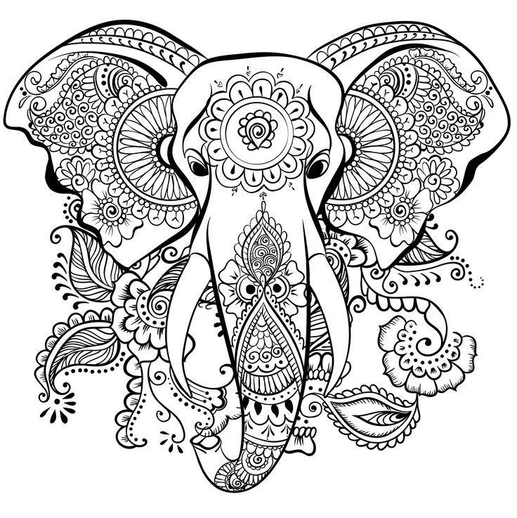 resultado de imagem para adult coloring pages animal