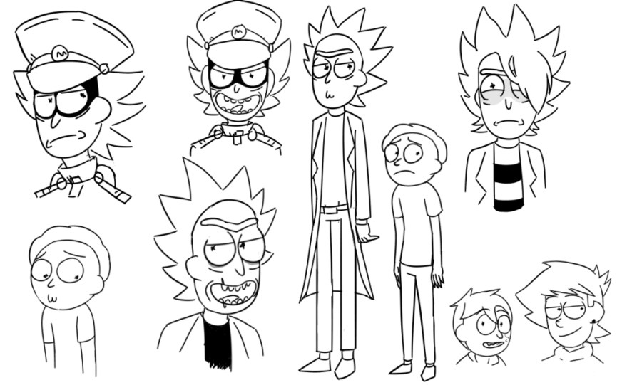 rick and morty coloring pages best coloring pages for kids