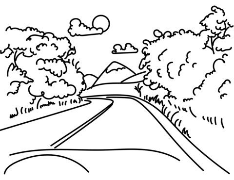 road in mountain coloring page free printable coloring pages