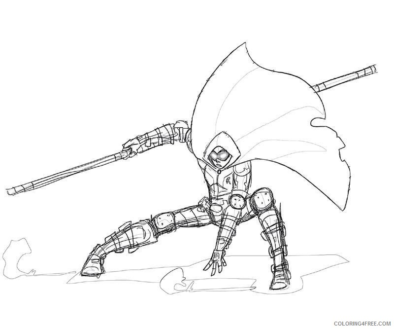 robin coloring pages arkham city coloring4free