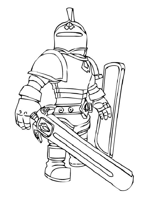 roblox coloring pages knight printable easy coloring roblox