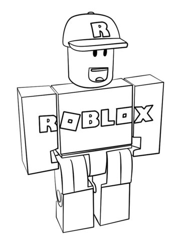roblox coloring pages to print pusat hobi