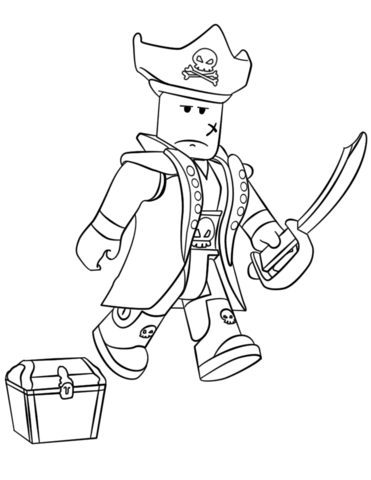 roblox pirate coloring page free printable coloring pages
