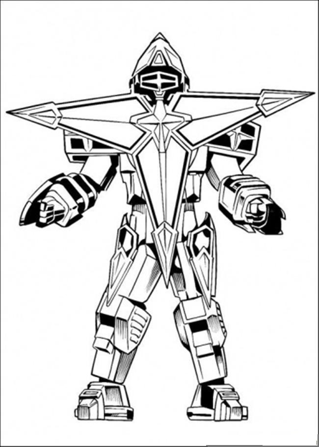 robot 4 characters printable coloring pages