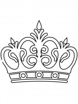 royal crown coloring sheets stencil vorlagen schablonen
