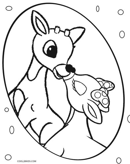 rudolf the rednosed reindeer coloring pages kaigobank