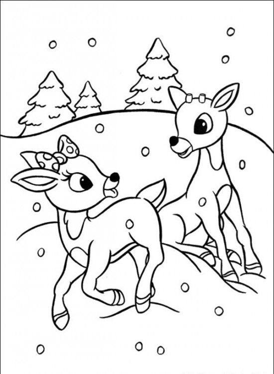 rudolph coloring pages rudolph the red nosed christmas