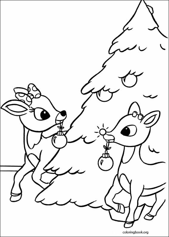 rudolph the red nosed reindeer coloring page 010