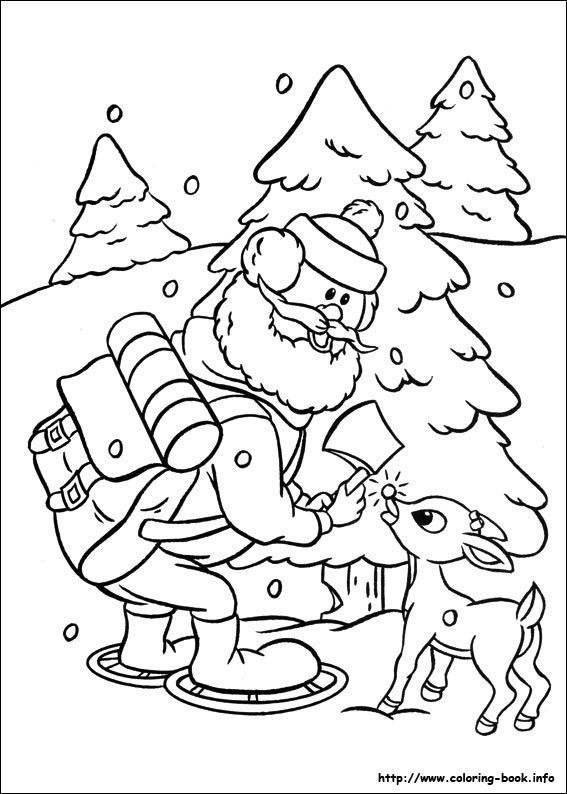 rudolph the red nosed reindeer coloring picture rudolph
