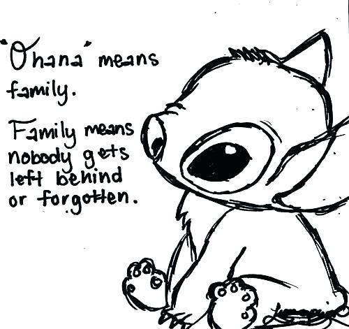 sad stitch coloring pages