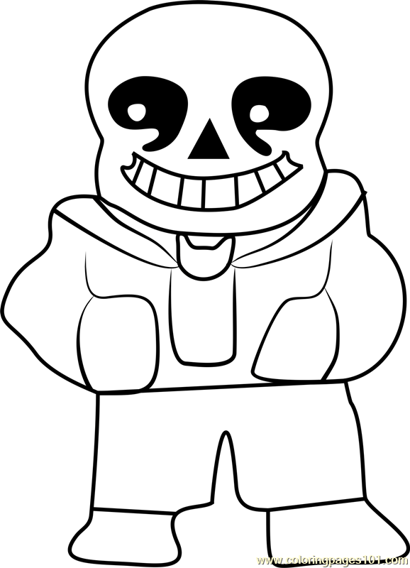 sans undertale coloring page free undertale coloring pages