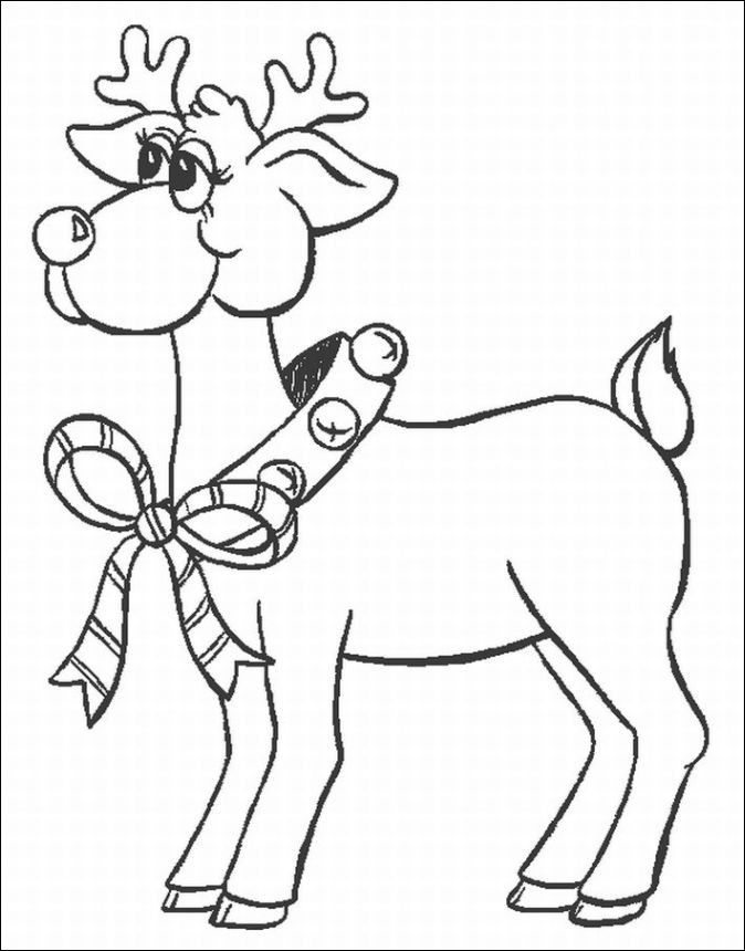 santa and reindeer coloring page new image reindeer coloring